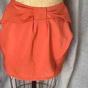 Coral Bow Detail Mini Skirt